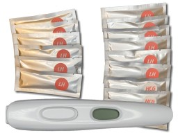12 ovulation tests and 3 pregnancy tests