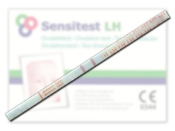 Sensitest LH strip positive test result
